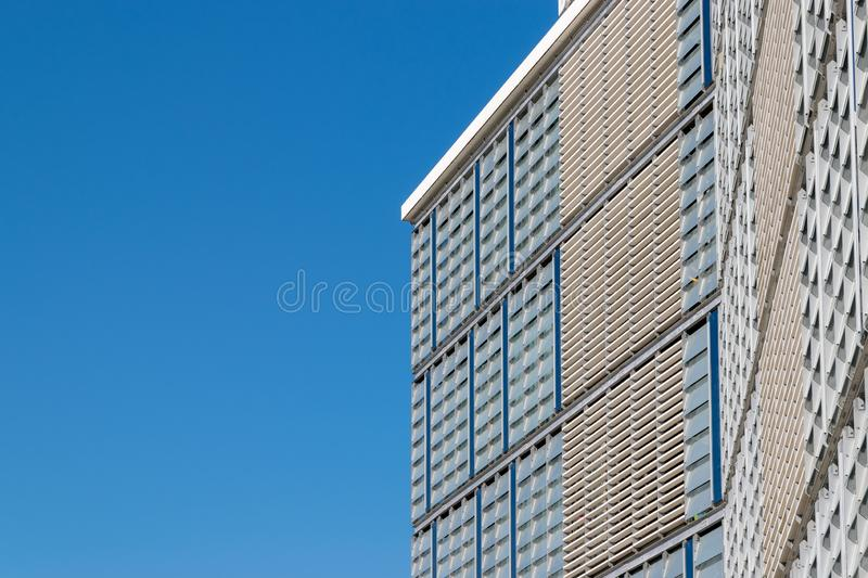 CLUJ-NAPOCA, ROMANIA - September 16, 2018: The Office building, Cluj-Napoca's new business hub. Blue color copy space copyspace day environment horizontal stock images