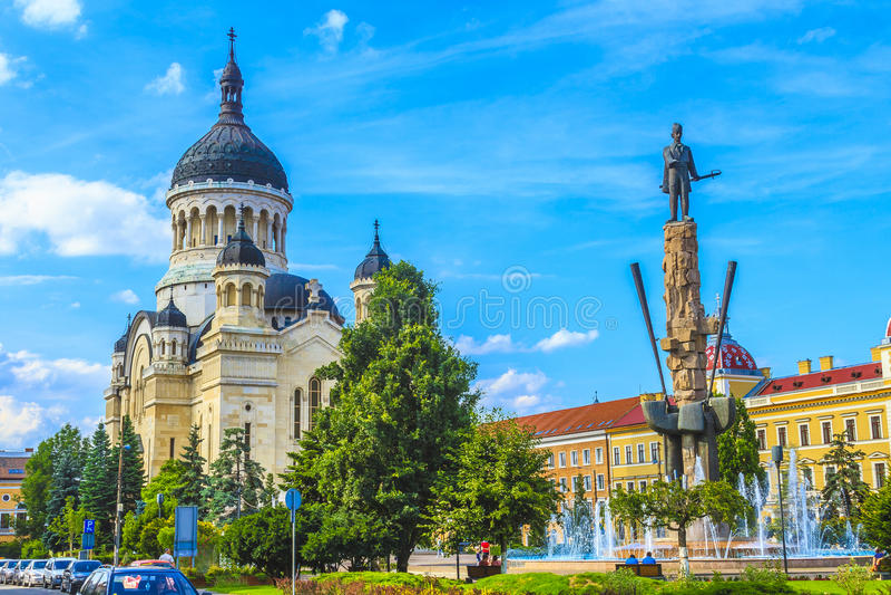 Cluj-Napoca stad royaltyfri fotografi