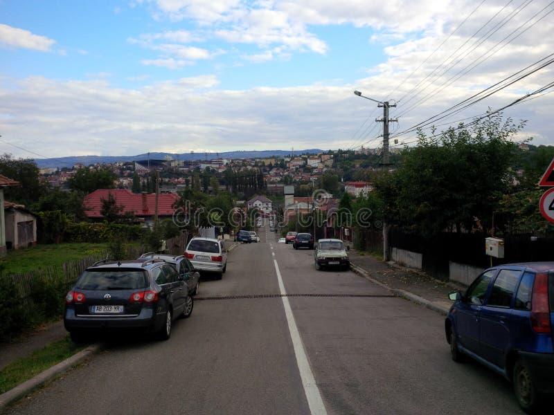 Cluj-Napoca synvinkel royaltyfria bilder