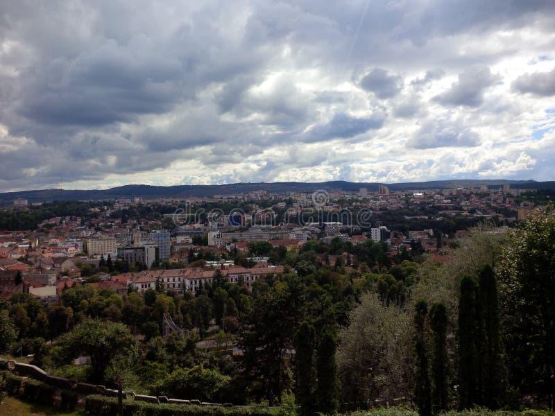 Cluj-Napoca synvinkel royaltyfri foto