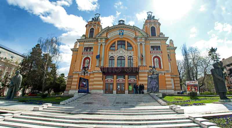 Download Cluj Napoca theatre editorial stock image. Image of rocks - 28990394