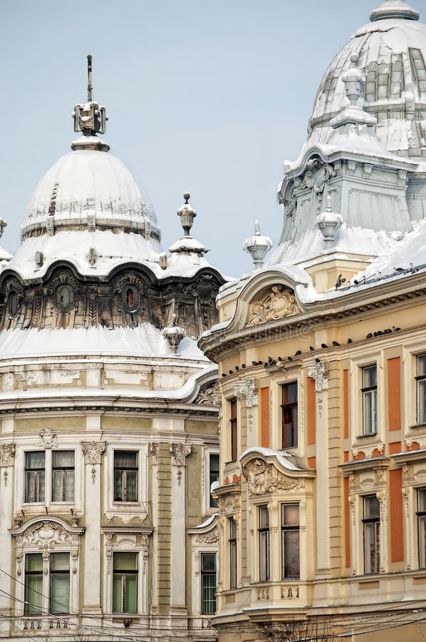 Cluj Napoca Twin Buildings Royalty Free Stock Images