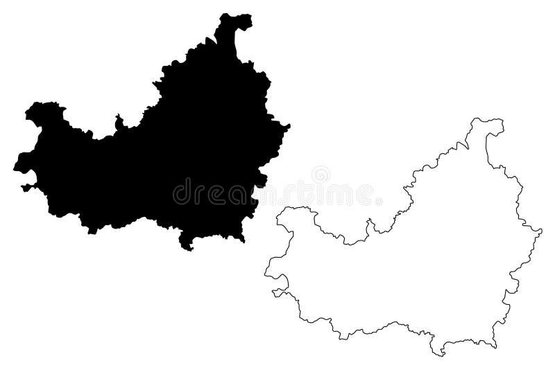 Cluj okręgu administracyjnego Administracyjni podziały Rumunia, kamizelka rozwoju regionu mapy wektorowa ilustracja, skrobaniny n royalty ilustracja