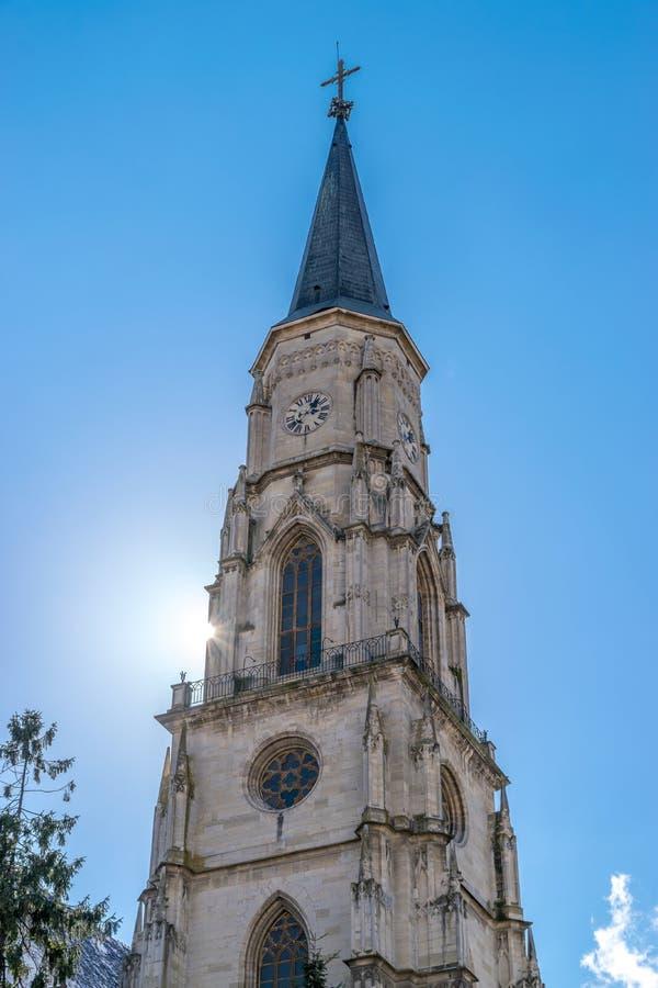 Cluj, Rumunia St Michael& x27; s kościół w cluj, Transylvania zdjęcia stock
