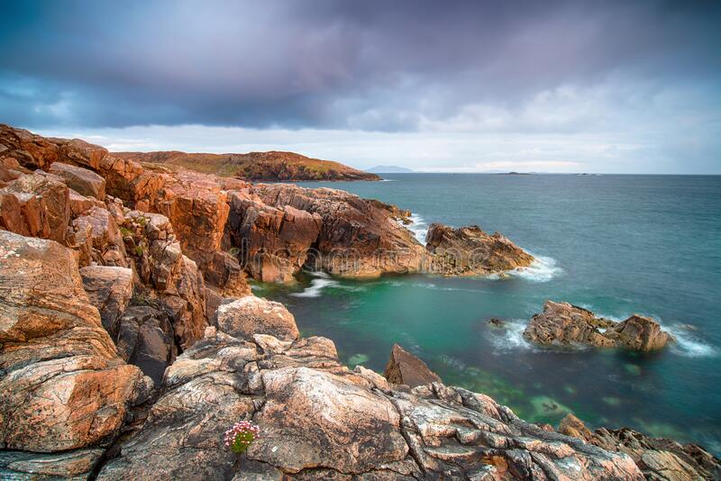 Cliffs at Hushnish stock images