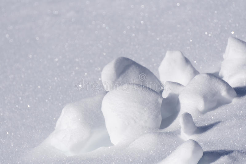 Clumps of snow, winter royalty free stock image