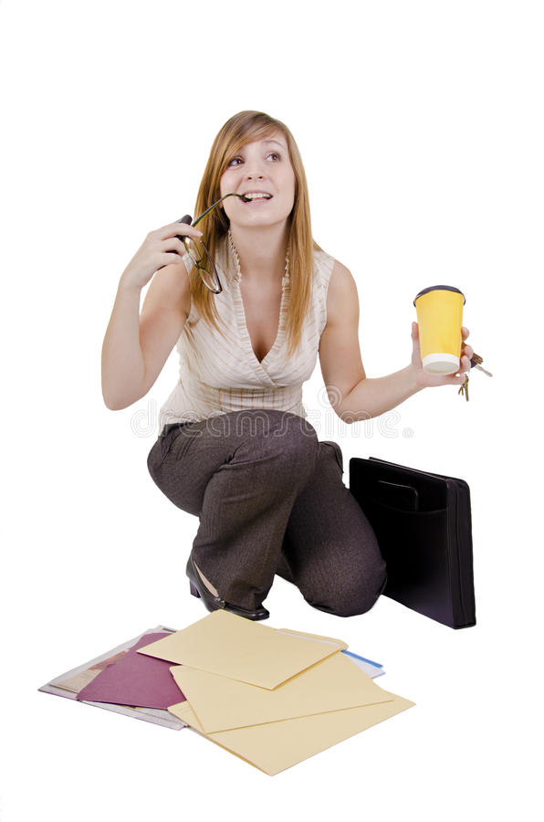Free Clumsy Businesswoman Stock Photography - 30165742