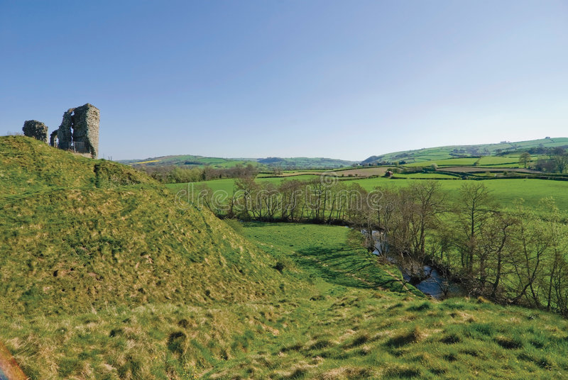 Clun Castle Shropshire Royalty Free Stock Images