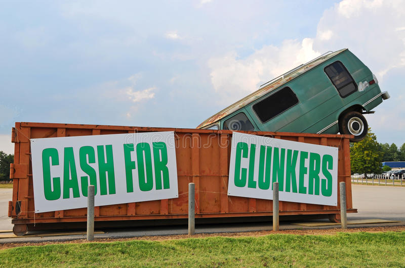 clunkers d'argent comptant photo stock