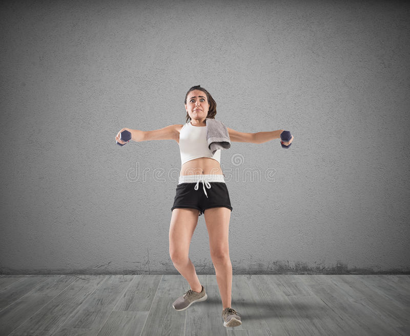 Clunky workout στοκ εικόνα με δικαίωμα ελεύθερης χρήσης
