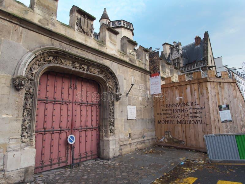Cluny博物馆或中古的国家博物馆 库存图片