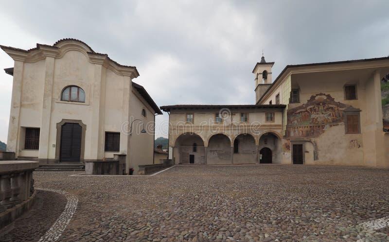 Clusone Bergamo, Lombardy, Itália - dei Disciplini do oratório: Dança da morte fotos de stock