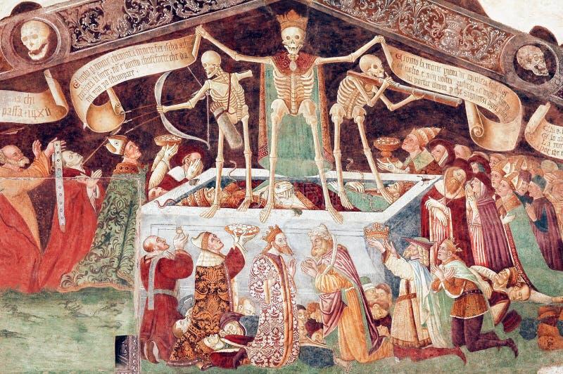 Clusone, fresque image stock