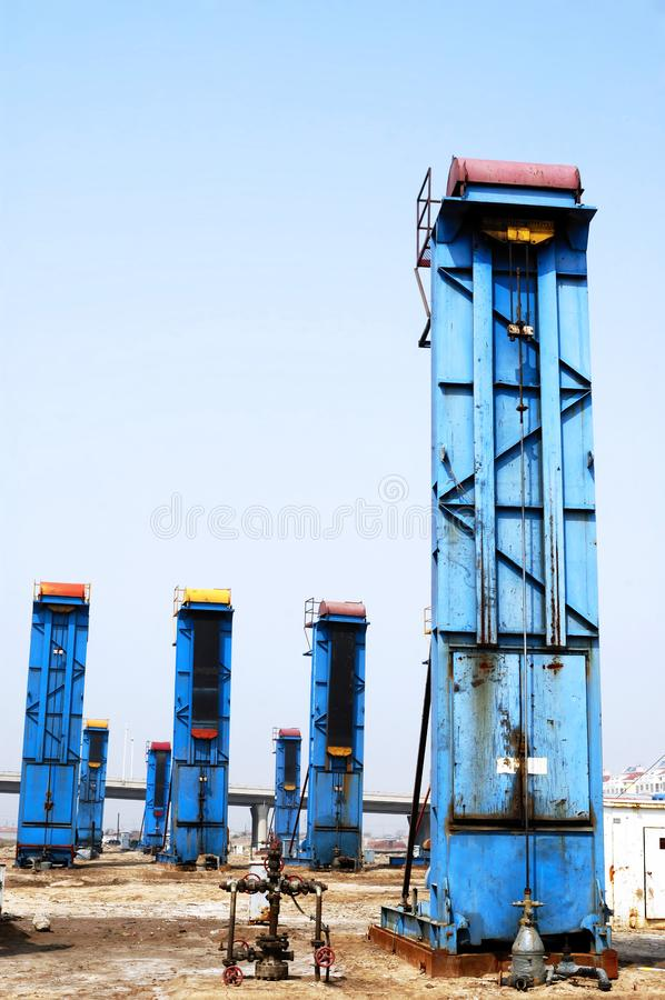 Cluster oil well royalty free stock photo