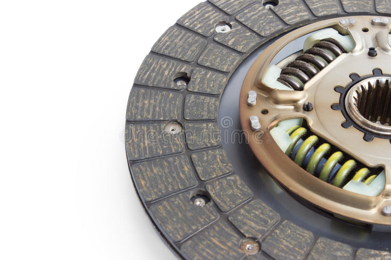 Clutch disc. New clutch disc on a white background royalty free stock photos