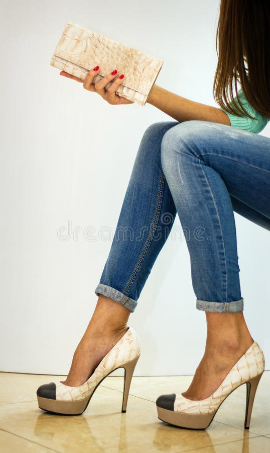 Clutch And Shoes Stock Photo