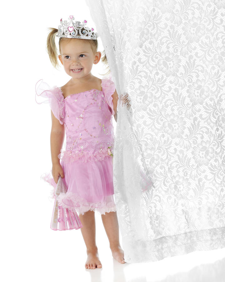 clutcher όμορφη πριγκήπισσα κουρτινών στοκ φωτογραφίες