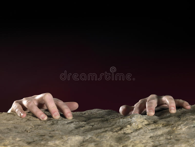 Download Clutchin Hands On Stone Surface Stock Image - Image of up, gripping: 32607867