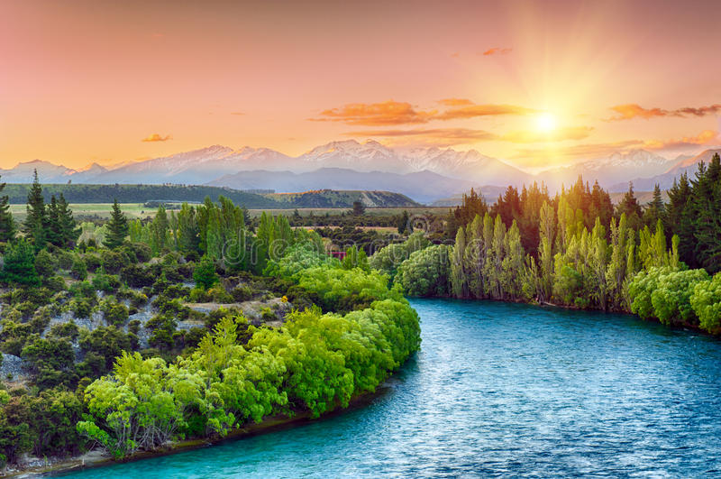 Clutha flod royaltyfri foto