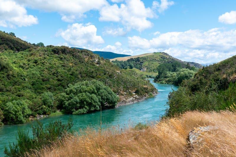 Clutha River Mata-Au, South Island New Zealand stock photo