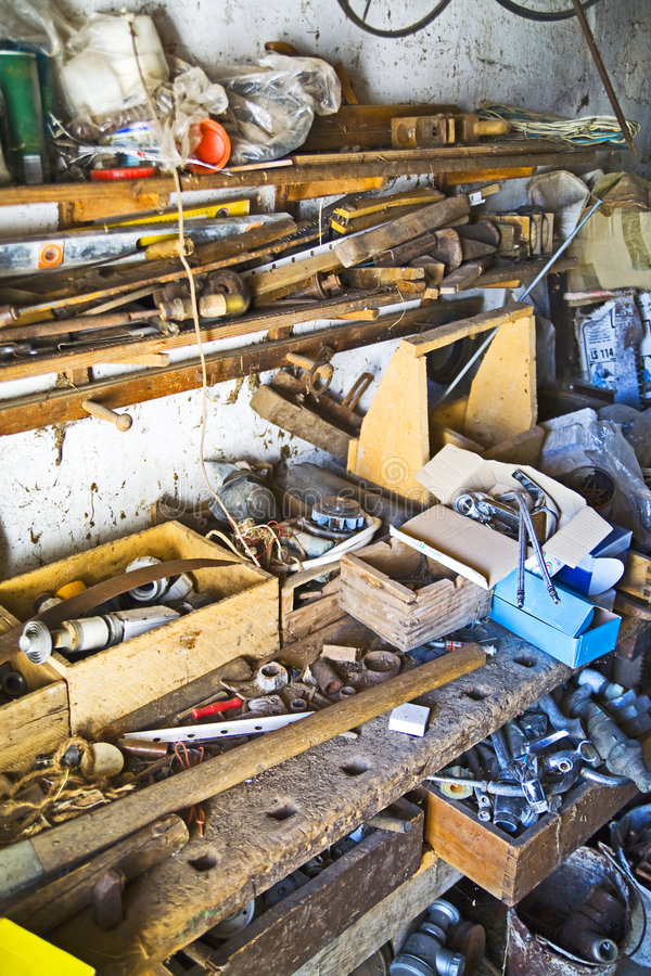 Download Cluttered junk room stock photo. Image of tool, dirty - 5171506