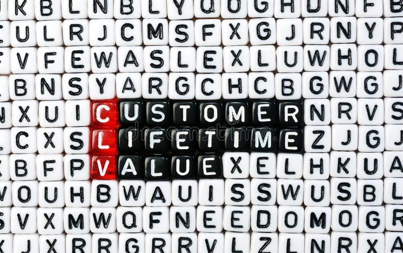 CLV Customer Lifetime Value stock image