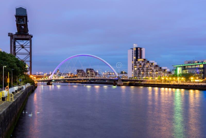 Clyde Arc Bridge Glasgow lizenzfreies stockfoto