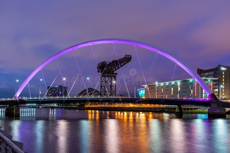 Clyde Arc Bridge Glasgow stockfotografie