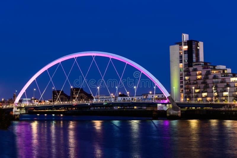 Clyde Arc, Glasgow, Escocia foto de archivo