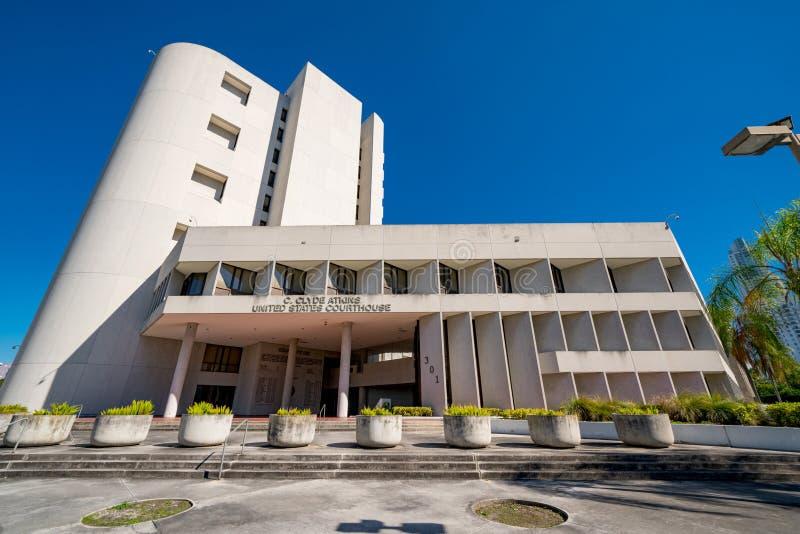 Clyde Atkins United States Courthouse Downtown Miami FL USA stockbild