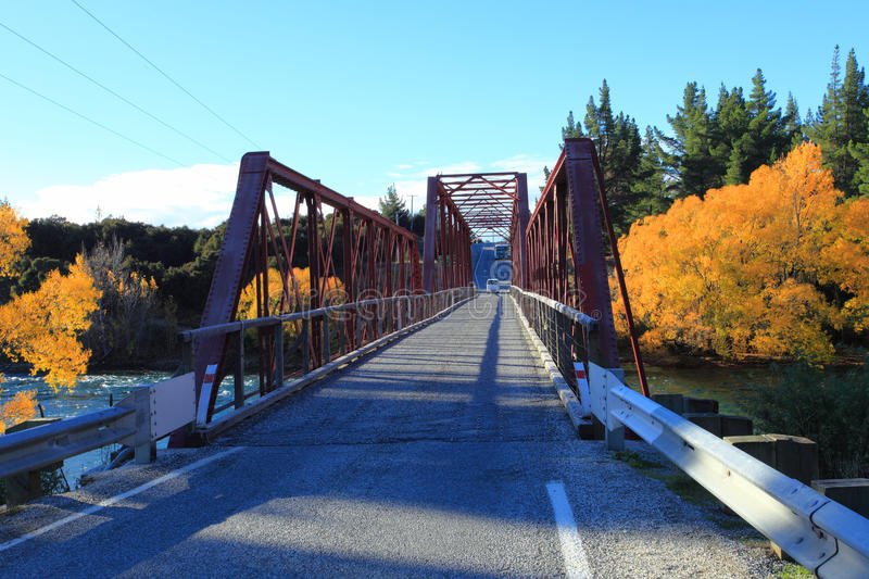 Clyde Bridge on the Clutha River,South Island New Zealand. stock images
