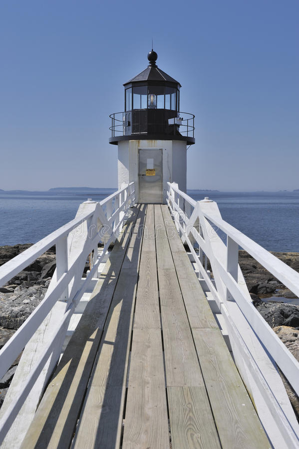 clyde latarni morskiej Maine marshall punktu port usa obraz royalty free