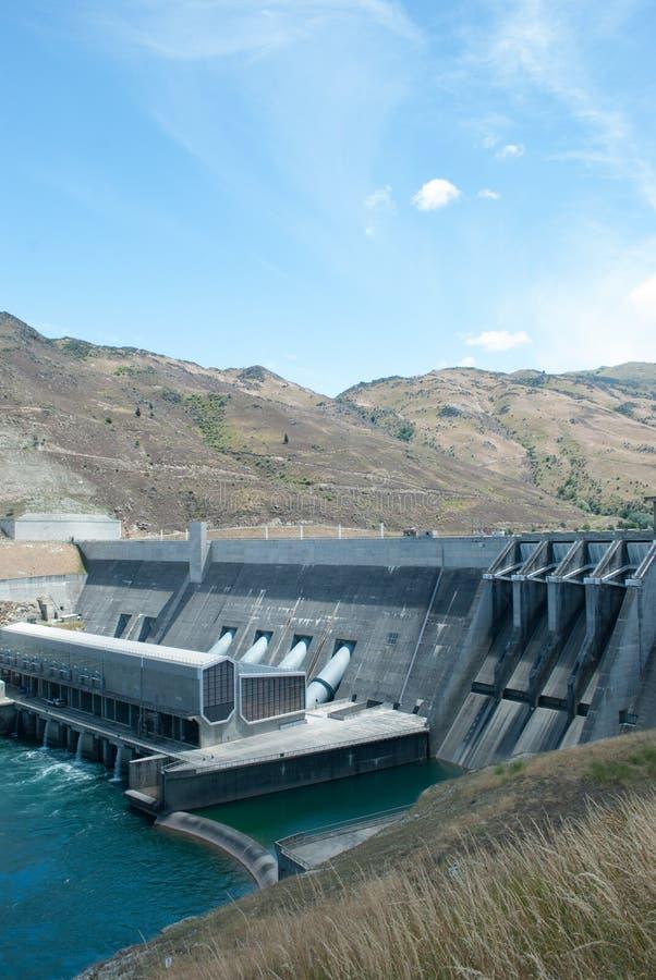 Clyde Power Station Dam, Otago, Südinsel, Neuseeland stockbild