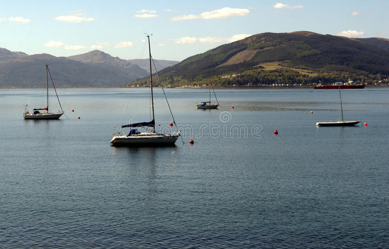 Clyde Sailing Boats royalty free stock photo