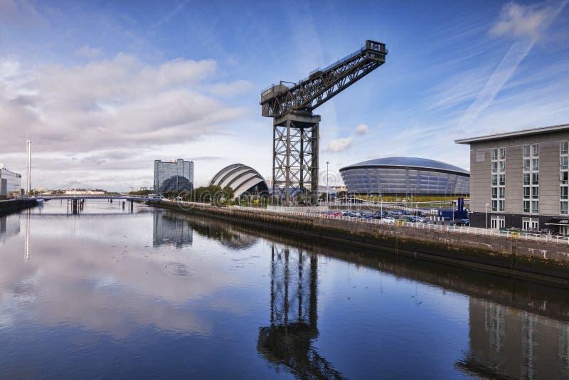 Clyde Waterfront, Glasgow, Reino Unido foto de archivo