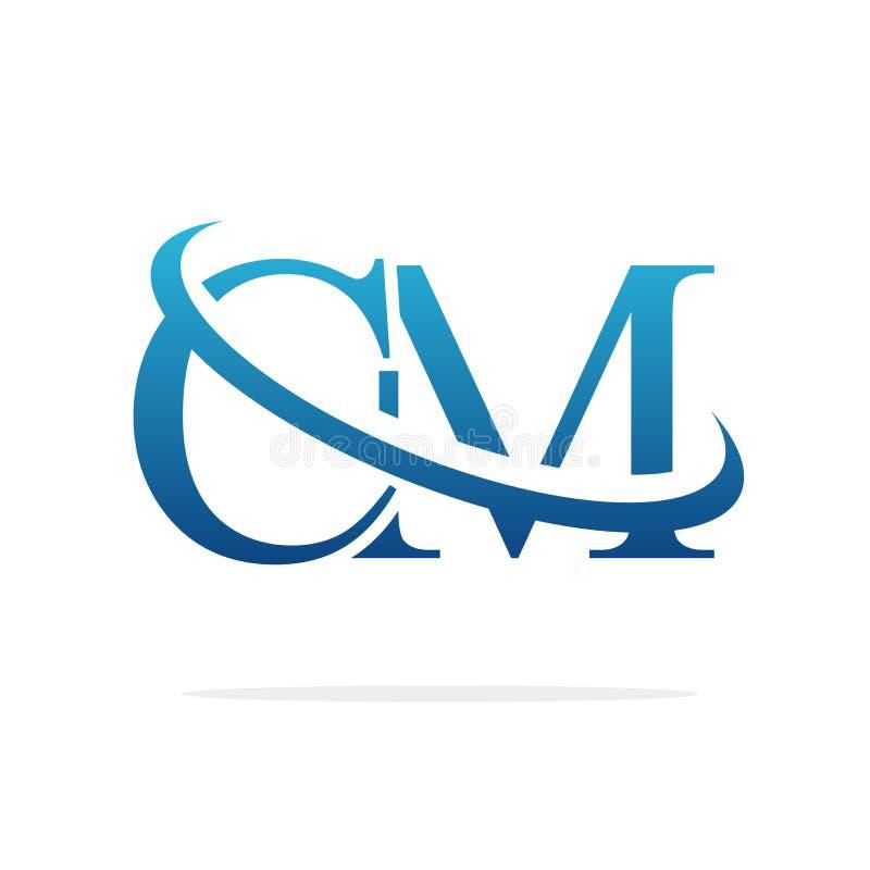 Cm Creatieve vectorart. van het embleemontwerp vector illustratie