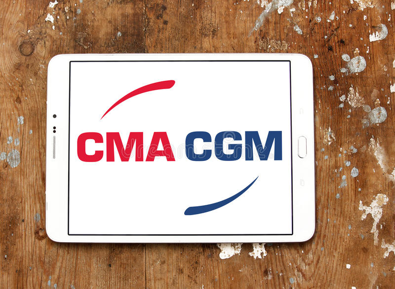 Cma cgm运输公司商标 免版税库存照片