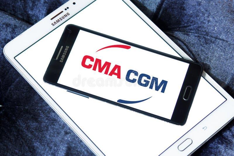 Cma cgm towarzystwa żeglugowe logo obrazy stock