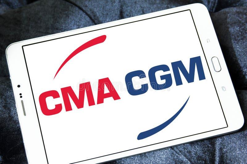 Cma cgm towarzystwa żeglugowe logo obraz stock