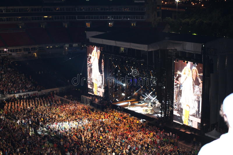 Cma country music fest in nashville. CMA country music festival at LP Field. celebrities on stage. LP field is a football stadium in Nashville, Tennessee, United royalty free stock images