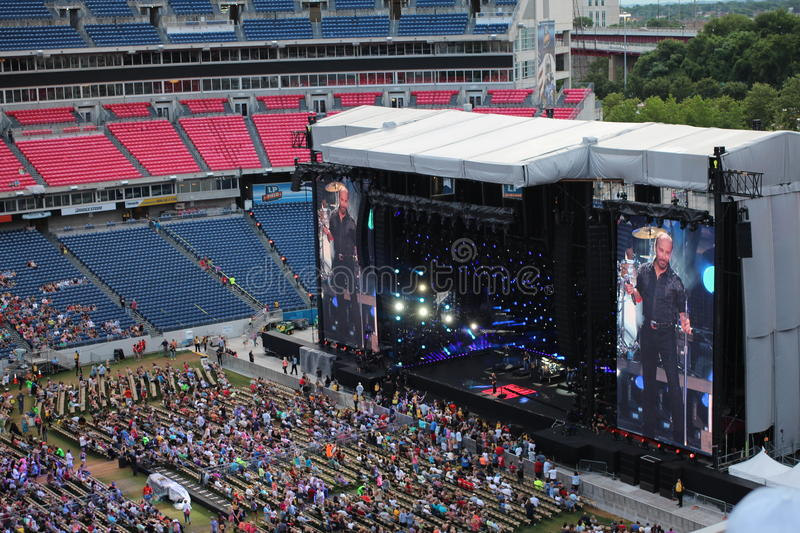 Cma country music fest in nashville royalty free stock images
