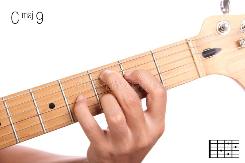 Cmaj9 Guitar Chord Tutorial Stock Image Image Of Music Cmaj7