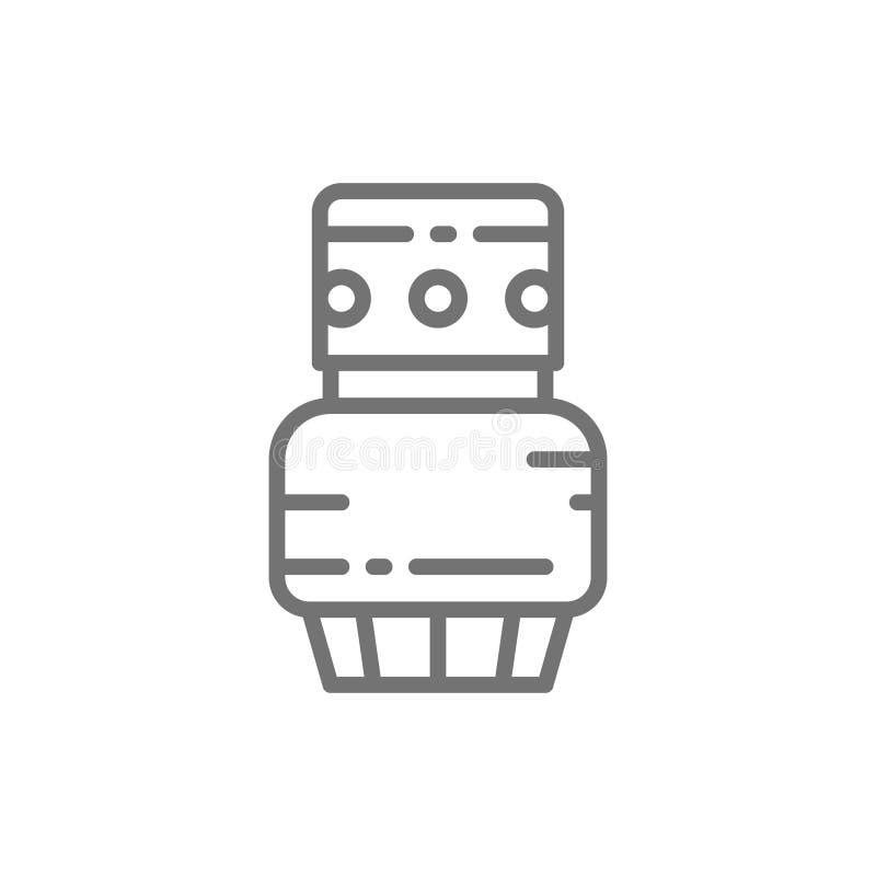 Cmentarniana nafciana lampa, pamięć lampion, świeczki kreskowa ikona ilustracji