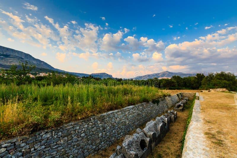 Cmentarniane Ruiny w Antycznym Miasteczku Salona fotografia royalty free