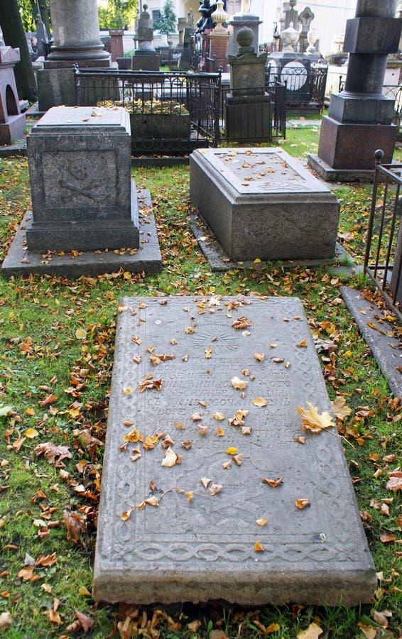 cmentarniany grób obraz royalty free