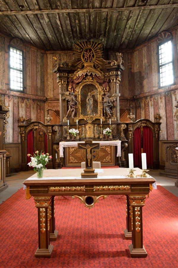 Cmentarniany kościół w Broumov, republika czech fotografia stock