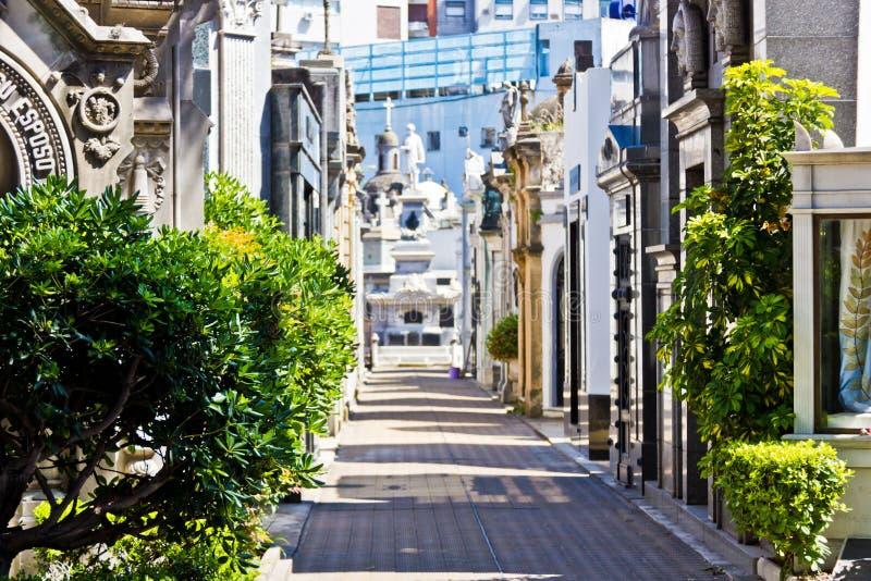 Cmentarniany Recoleta w Buenos Aires w lecie fotografia royalty free