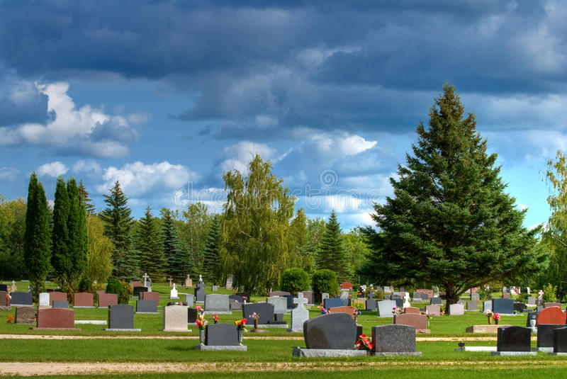 cmentarz obraz royalty free