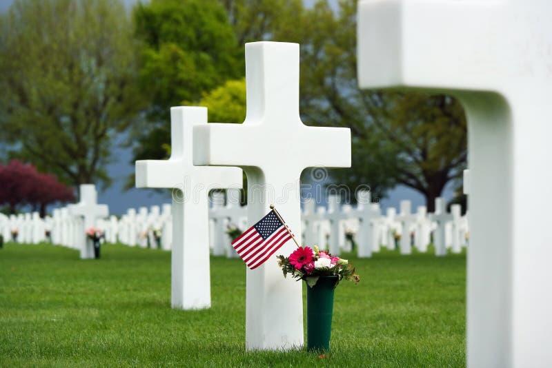 cmentarz amerykańska wojna fotografia royalty free