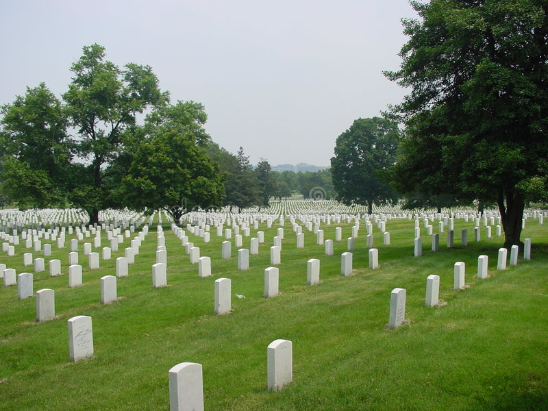 cmentarz arlington krajowe obraz stock